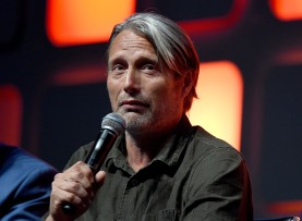 LONDON, ENGLAND - JULY 15: Mads Mikkelsen on stage during the Rogue One Panel at the Star Wars Celebration 2016 at ExCel on July 15, 2016 in London, England. (Photo by Ben A. Pruchnie/Getty Images for Walt Disney Studios) *** Local Caption *** Mads Mikkelsen
